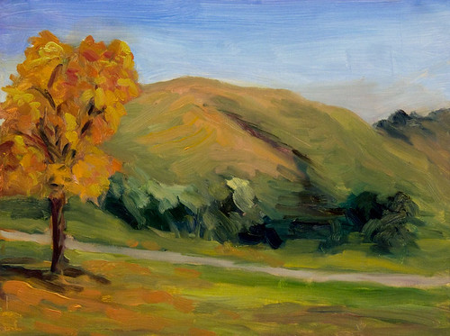 Plein Air - untouched in studio