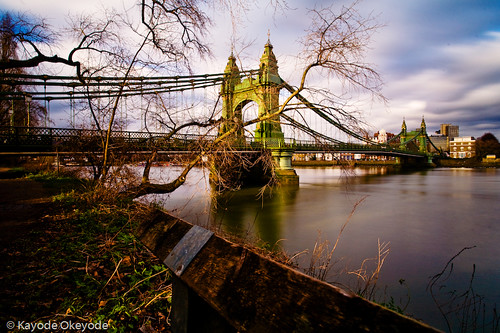 Hammersmith Bridge at Lunch Time