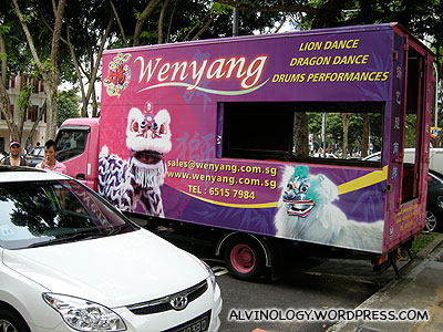 Wenyang: The lion dance troupe with the pink lions