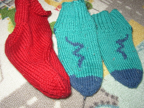 side dragon and snake socks