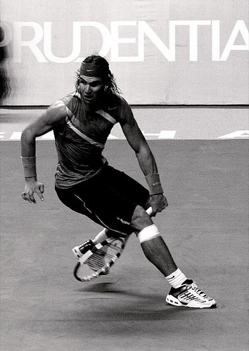 Nadal between the leg shot