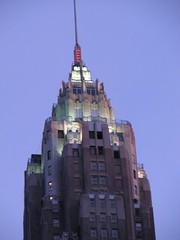 American International Building at Dusk