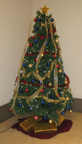 the artificial christmas tree in my lobby