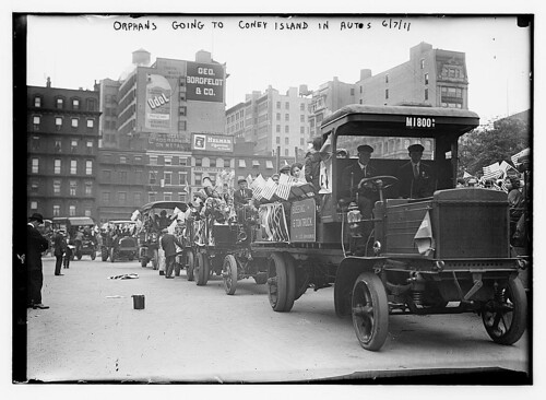 Orphans going to Coney Island in Autos, 6/7/11 (LOC)