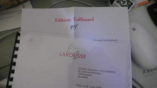Lettres d'éditeurs