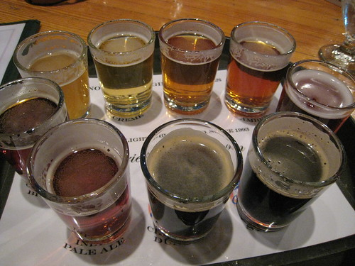 Sample of all beers at Northern Lights Brewing