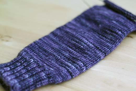 Logwood Socks In Progress