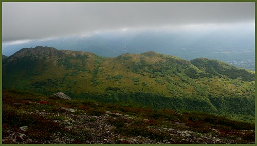 Looking south from near the summit of Mt. Baldy, Eagle River, Alaska.