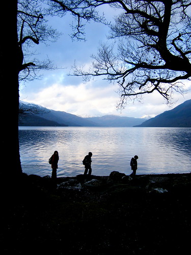 Kids at Loch Lomond