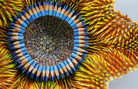 Jennifer Maestre's pencil sculpture