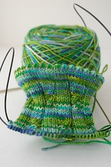 Second Simply Cables socks from Sockamania