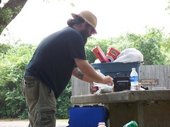 Allen making lunch