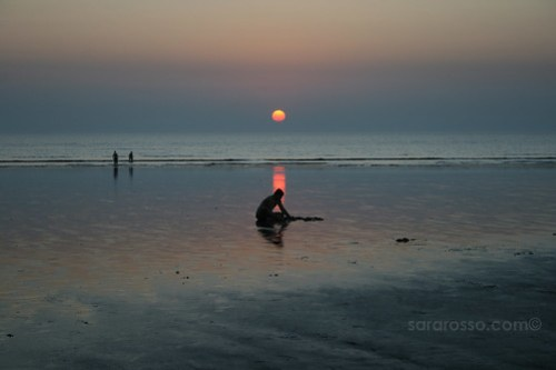 Disappearing Sun, Dandi Beach outside Navsari, Gujarat, India