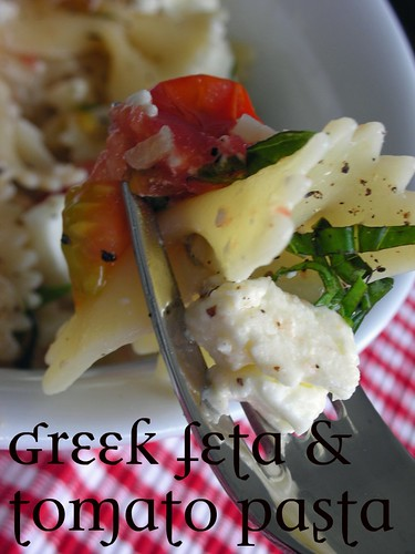 greek feta and tomato pasta