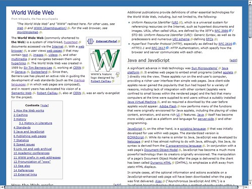 Wikipedia in Firefox using a customized GM script