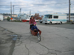 Bakfiets test ride at Flickr