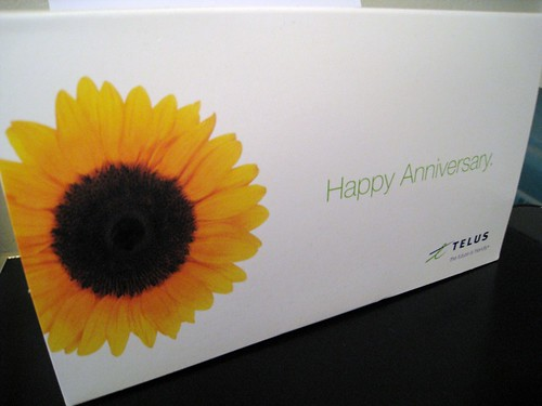 Happy Anniversary from Telus Mobility
