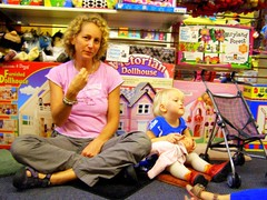 Liz and her daughter at The Toy Box during Signing Storyhour