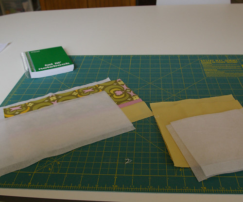 Fabric and interfacing all cut by you.
