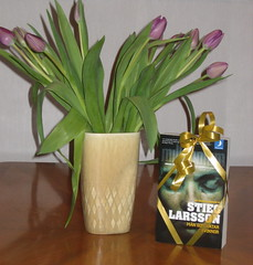 Tulips and Stieg Larsson