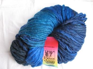 Fleece Artist wool slub (blue)