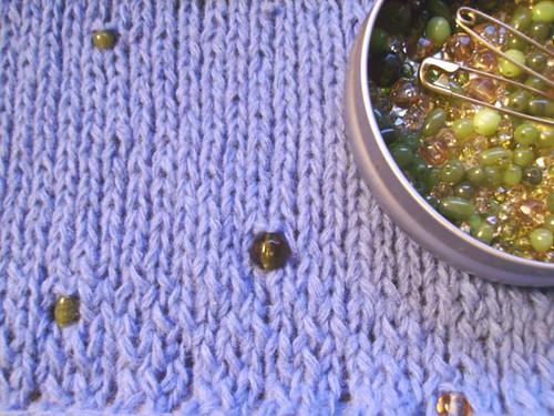 knit bead shawl