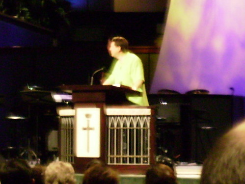 Lee Strobel @ My church - bad pic