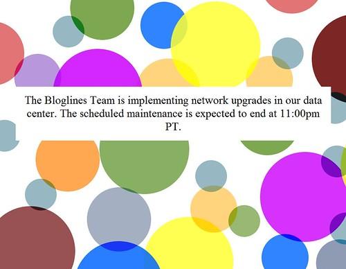 Bloglines Maintenance