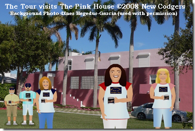 """The Tour visits """"The Pink House"""" ©2008 New Codgers"""