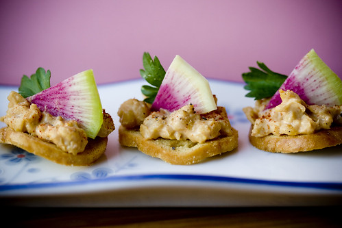 ChickPea Radis Hors d'ouevres