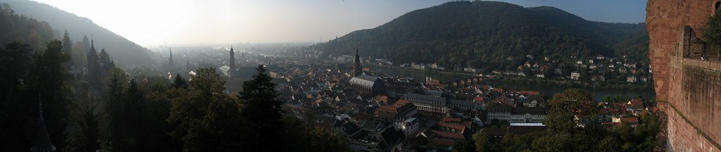 Panorama from Heidelberg Schloss