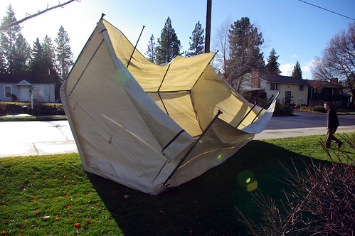 Someone's carport tent
