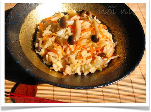Japanese style mixed rice