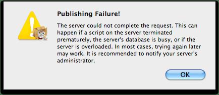 publishing failure