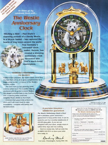 Westie Anniversary Clock