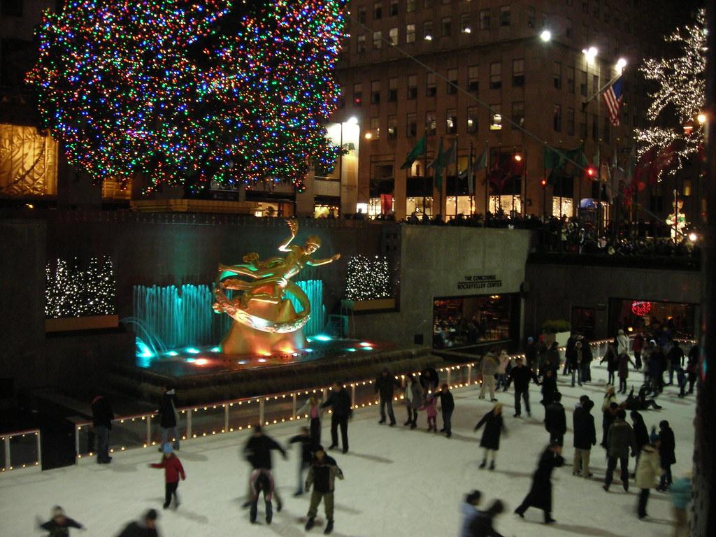 Skaters at Rockefeller Center