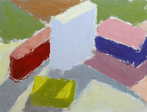 Color Study plein air with blocks