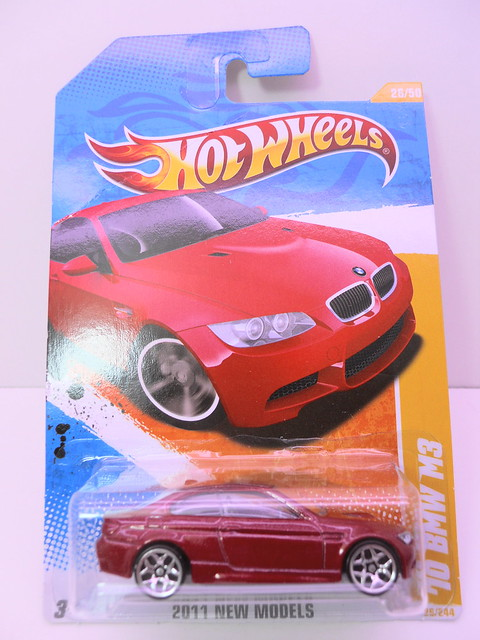 hot wheels '10 bmw m3 red (1)