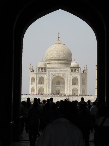 entrance to the Taj Mahal