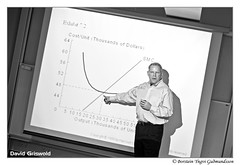 David Griswold Economist during a lesson