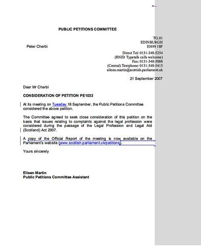 Feedback Letter PE1033