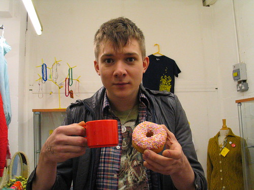 A cuppa and a donut