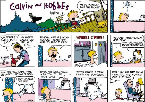 Calvin & Hobbes, Thar she blows