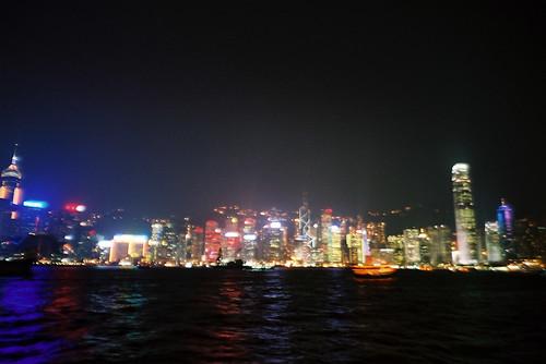 Hong Kong Island at night