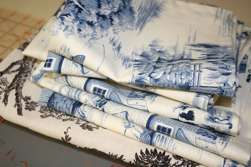 cloth napkins, folded: Sixth day of Christmas