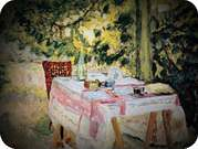 Pierre Bonnard. Table Set in a Garden.