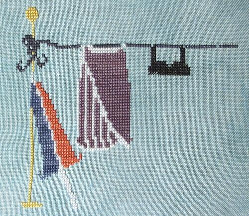 Three Days Stitching on Warm Water Wash