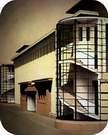 Edificio de oficinas de la exposición del Werkbund. Gropius y Meyer, 1914.