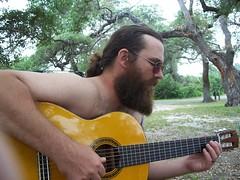 Allen with his guitar
