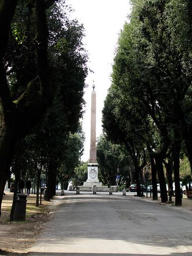 Egyptian Obelisk in Villa Borghese